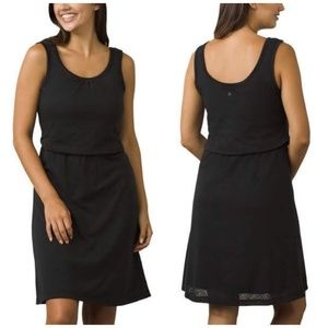 prAna Mika Dress Black Blouson Scoop Neck - Medium